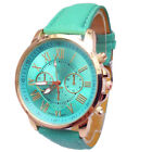 2018 Women's Casual Stylish Numerals Faux Leather Analog Quartz Wrist Watch