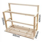 14 GPU Wood Mining Rig Case Open Air Frame for ETH ZEC/Bitcoin + Lot 4 Fans