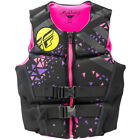race for life vest top - Womens NEOPRENE Life Jacket Fly Racing Safety Vest Full Zip w Buckles Black/Pink