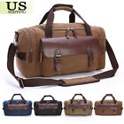 mens leather handbags - Canvas Leather Travel Bag Men Duffle Tote Bag Carry-On Shoulder Handbag Luggage