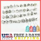 Authentic Pan dora Charms 40 Assorted Crystal Rhinestone Bead Charm Spacers Love
