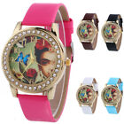 Women All Kinds Of Color Leisure Checkers Faux Leather Quartz Analog Wrist Watch