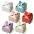 Pearlescent Heart Favour Boxes For Wedding Baby Shower Party & Christening