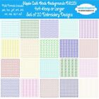 Stipple Quilt Block Backgrounds Machine Embroidery Designs Set of 20 CD or USB