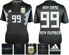 PERSONALISED - ARGENTINA AWAY 2018 WORLD CUP ADIDAS SHIRT SS = ADULTS