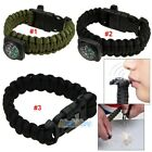 550 Military Paracord Bracelet Emergency Survival Camping Hunters Gear/Kit USA