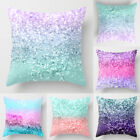 Polyester Pillow Case Cover Sequin Glitter Throw Sofa Cushion Cover Home Decor image