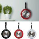 Home Decor Kitchen Wall Clock Frying Pan Small Novelty Design Metal Hot Cute