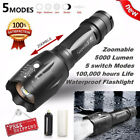 G700 XM-L T6 LED Zoomable Flashligh Tactical Torch 5000lm Bright Lamp Light X800