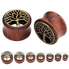 Sono Wood Tree of Life Ear Tunnel Drum Stretchers Ear Plug Vintage Chic Gift EE