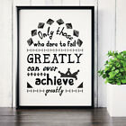 Motivational Poster & Inspirational Prints Funny Quote & Wall Art Home Decor <br/> Over 90 To Choose From - Buy 2 Get 1 Free - Satin Paper