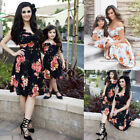Fashion Women Mother Daughter Matching Dresses Summer Girl Dress Clothes Sets US