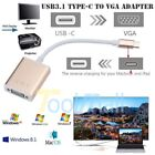 USB C 3.1 Type C to VGA Monitor Projector Video Converter Adapter Cable Switcher