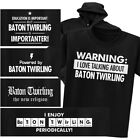 BATON TWIRLING T-shirt or Hoodie - Warning Powered New Religion Chemistry