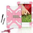 """Shockproof Silicone Stand Cover Case For Various 7"""" 8"""" LG G Pad Tablet + Stylus"""