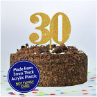 CUSTOM ANY AGE Birthday Cake Topper PERSONALISED Decoration Party 16 18 21 30 40