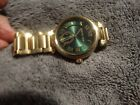 Men's Micheal Kors Watch, gold,green face,  excellent condition