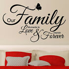 Wall Quotes OUR FAMILY MOMENTS TO LOVE Wall Stickers Wall Quotes Stickers   N61