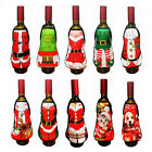 Christmas Beer Wine Bottle Apron Cover Bag Dinner Table Decor Xmas Party Tools