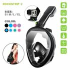 Easy Breath 180° Seaview For GoPro 4 5 Anti Fog Full Face Diving Snorkel Mask