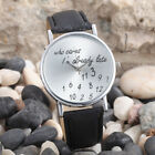 GENEVA ANALOGUE QUARTZ FASHION WATCH WITH FAUX LEATHER STRAP MENS WOMENS LADIES