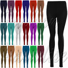 WOMENS LADIES PLAIN STRETCHY VISCOSE FULL LENGTH LEGGING PANTS PLUS SIZE 8 TO 22