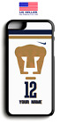 PUMAS UNAM Jersey Personalized Plastic OR Rubber Case For Iphone | Samsung | LG