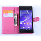 For SONY XPERIA M2 AQUA Flip Leather Wallet Phone case Card Holder Stand Pouch