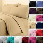 Plain Dyed Non-Iron Percale Duvet Quilt Cover Bedding Set With Pillowcases