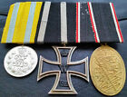 ✚6830✚ German WW1 mounted medal group Iron Cross Saxony FA Kyffhauser Medal
