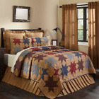 KINDRED STAR QUILT SET-choose size & accessories-Patchwork Red/Blue VHC Brands image