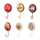 Retro Metal Sign Beer Bottle Cap Cover Hook Pub Bar Club Cafe Home Wall Decor x1