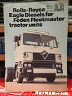 Fodens Ltd Foden Fleetmaster  Eagle Engine Rolls Royce Brochure A4