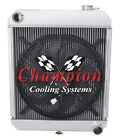 "2 Row Racing Champion Radiator W/ 16"" Fan for 1960 - 1966 Chevy Truck L6 Engine"