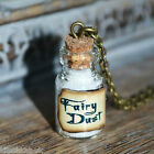 Cute small white Fairy Dust Potion Bottle Vial Necklace - Peter Pan Tinkerbell
