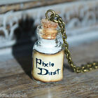 Cute small white Pixie Dust Potion Bottle Vial Necklace - Peter Pan Tinkerbell