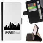 U.S. CITIES SKYLINE VIEW WALLET CASE COVER FOR SAMSUNG GALAXY S8+ (S8 PLUS)