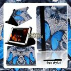 """For Various 7"""" 8"""" Asus ZenPad Tablet - FOLIO LEATHER STAND CASE COVER + Stylus"""