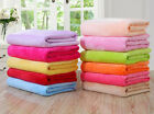 Room Super Soft Solid Warm Micro Plush Fleece Blanket Throw Rug Sofa Bedding New image