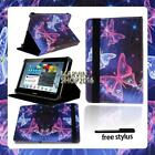 """For Various 7"""" 8"""" 10"""" Samsung Galaxy Tablet -FOLIO LEATHER STAND CASE COVER +pen"""