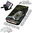 White Mountain Lone Wolf Predator LEATHER FLIP WALLET PHONE CASE COVER + STYLUS