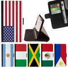 WORLD COUNTRY FLAG WALLET CASE COVER FOR SAMSUNG GALAXY J3 PRIME