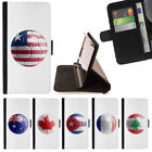 COUNTRY SOCCER FOOTBALL FLAG WALLET CASE COVER FOR SAMSUNG GALAXY J3 PRIME