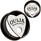 o gauge plugs - Pair Ouija Planchette Stainless Steel Ear Tunnels O-Ring Gauges Plugs Earrings