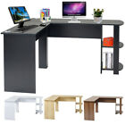 L-Shaped Home Office Computer Desk Study Working Corner PC Table with 2 Shelves