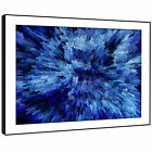 AB838 Blue Black Cool Funky Modern Abstract Framed Wall Art Large Picture Prints