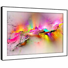 AB970 Retro Colourful Cool Modern Abstract Framed Wall Art Large Picture Prints