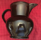 Antique Etonia ? Iron Brown Glaze Pottery Pitcher Stoneware Derbyshire Geometric