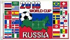 Soccer World Cup Soccer 2018 Russia 5' x 3'