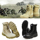 US Mens Leather Military Tactical Deployment SWAT Boots Duty Work Shoes Camp